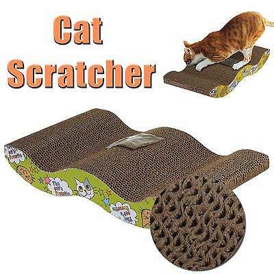 Kitten Cat corrugated Scratcher Pet Claw Scratching Board Bed Toy Pad Mat Post