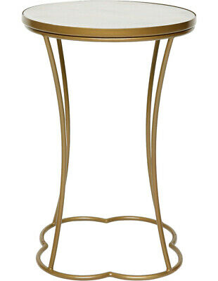 NEW Heritage Marrakech Round Side Table in pale Gold Finish