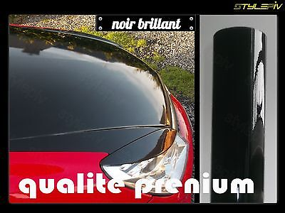 film vinyle covering noir brillant 1.52 x 2 m thermoformable adhesif