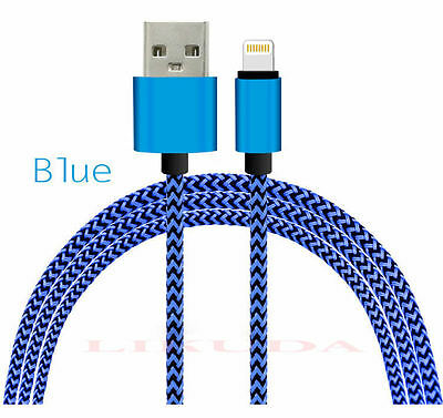 Aluminum Nylon Braided USB iphone 8 pin Data Sync Charger Charging Cable 6s plus