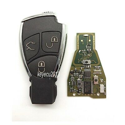 New Uncut Smart Remote Key Fob 3 Button 433Mhz for Mercedes-Benz