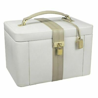 Dulwich Designs Two Tone Cream + Mink Leather Extra Large Jewellery Box