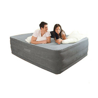 Intex Comfort Plush High Rise Queen Size Airbed & Built in Electric Pump #64418