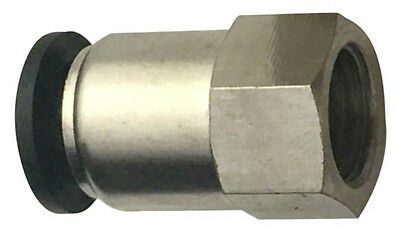 """5/32"""" OD x 1/8"""" Female NPT Straight Push to Connect One Touch Air Fitting Brass"""