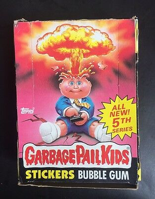 Garbage Pail Kids Topps 1986 5th Series 48 Wax Pack box Stickers Nice unopened
