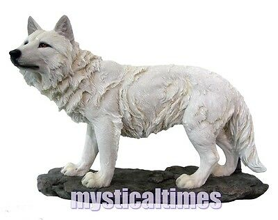 New * Scent In The Air * White Wolves Wolf 28Cm  Figurine Ornament H2523