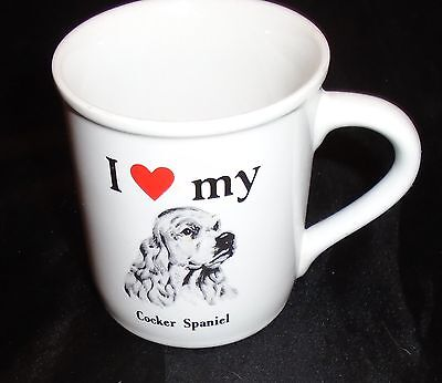 Vintage Cocker Spaniel Mug I Love My Cocker Spaniel Dog Pet Lover Mug
