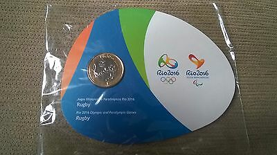 BRAZIL RIO 2016 OLYMPIC GAMES COIN: RUGBY - Special Edition FREE SHIPPING