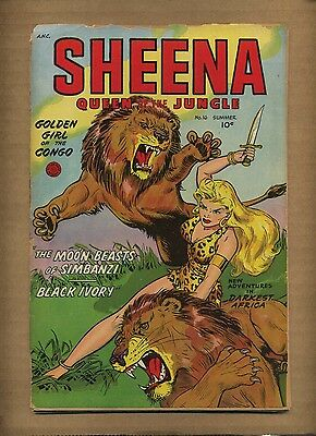 Sheena Queen of the Jungle 16 (PR) Summer 1952 Fiction House  (c#08633)