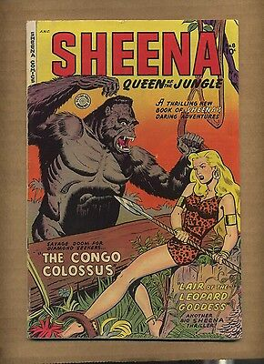 Sheena Queen of the Jungle 8 (GVG) 1950 Fiction House (c#08627)