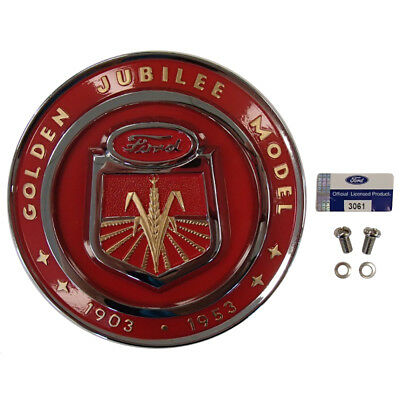 NAA16600A Golden Hood Emblem fits Ford Tractor Jubilee 1953