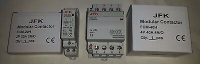 modular contactor 240V coil 20amp 2 pole and 40 amp 4 pole available NEW BOXED!