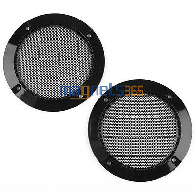 """2PCS 4"""" Inch Matte Type Circle Speaker Decorative Circle With Protective Grille"""