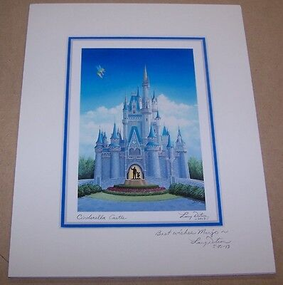 Disney Fine Art Cinderella Castle 2013 by Larry Dotson Signed