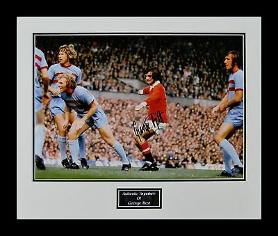 George Best Genuine Hand Signed Inc Photo Proof Manchester United Bobby Moore