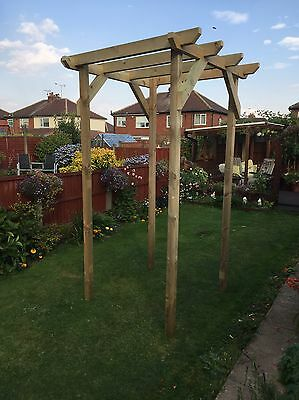 pergola tunnel wooden patio decking delivery included depending on post code
