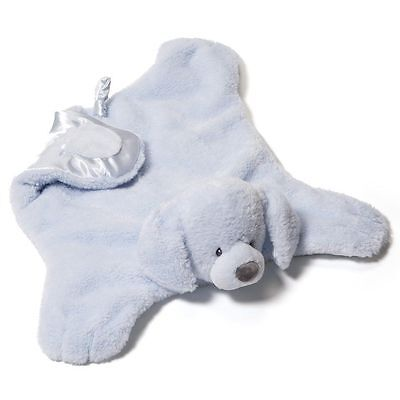 """Gund Comfy Cozy Fluffey Blue Puppy 4040401 New With Tags 22"""" Long"""