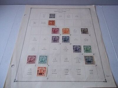 Rep. of China Northeastern Provinces/Postage due stamps. Back to back on page.