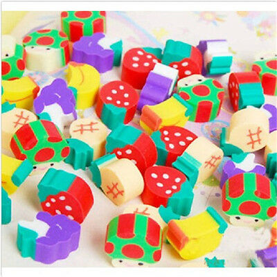 50pcs Cute Mini Fruit Rubber Pencil Eraser For Children Kids Stationery/Gift/Toy