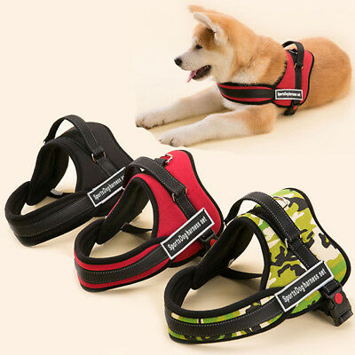 Working Dog Vest Service TRAINING Dog Harness Heavy Duty For Pitbull Boxer Husky