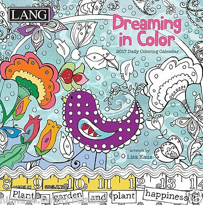 Dreaming in Color 2017 Lang Coloring Desk Boxed Calendar by Lisa Kaus, 365 Days