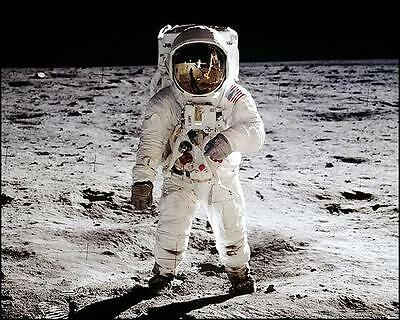 NASA APOLLO 11 BUZZ ALDRIN ON THE MOON 8x10 PHOTO