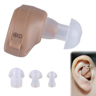 Mini Hearing AIDS AID In Ear Sound Voice Digital Amplifier Audiphone + Batteries