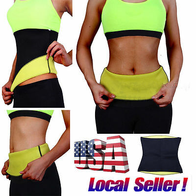 Thermo Sweat Hot Neoprene Body Shaper Slimming Waist Trainer Cincher Yoga Belt!