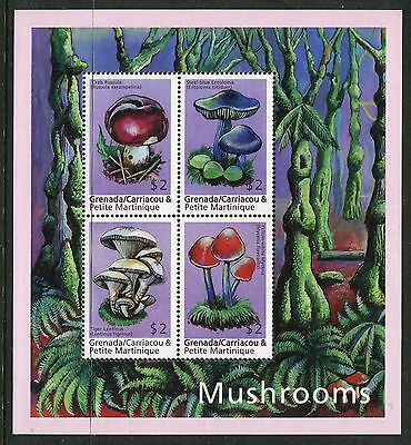 Grenadines of Grenada 2000 Fungi Mushrooms 4v MS #2 MNH