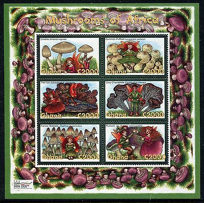 Ghana 2000 Mushrooms Fungi MS MNH
