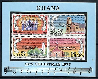 Ghana 1978 Referendum opt on Christmas MS MNH