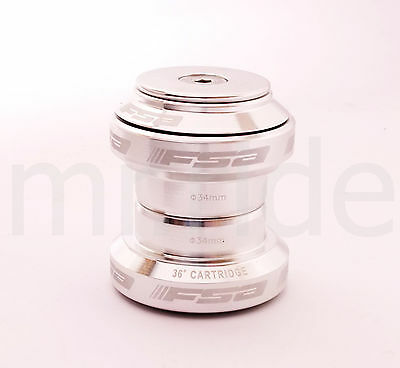"mr-ride FSA Orbit MX 34mm Threadless Headset with top cap 1-1/8"" Silver"