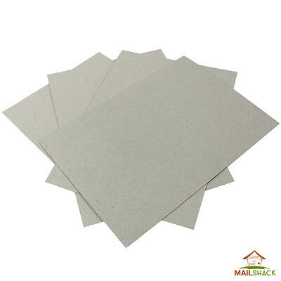 A4 PREMIUM 1000 MICRON 1mm GREYBOARD Sheets THICK STRONG Backing Card Craft