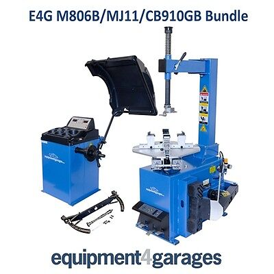 Motorcycle Tyre Changer and Wheel Balancer Bundle
