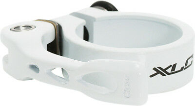 XLC Quick Release Seat Post Clamp White 34.9mm MTB Bike Bicycle Seatpost Q/R