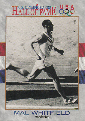 Mal Whitfield (USA) † US Olympics Hall of Fame Tradingcard !! 1.OS 1948 800m