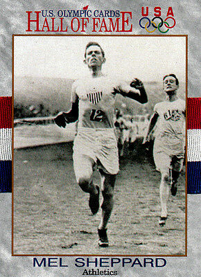 Mel Sheppard (USA) † US Olympics Hall of Fame Tradingcard !! 1.OS 1908 1500m