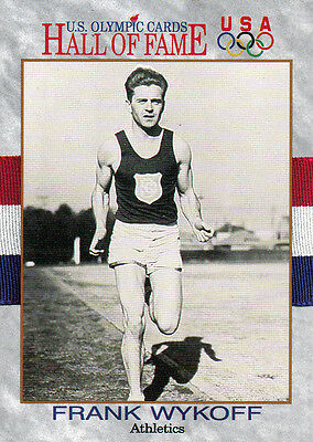 Frank Wykoff (USA) † US Olympics Hall of Fame Tradingcard !! 1.OS 1928 !!
