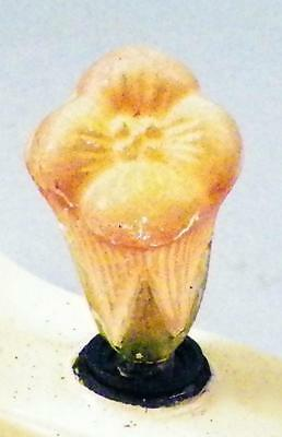 Antique Christmas Tree Light Lily Flower Pink Electric Figural Germany C6 #24