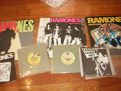 Ramones  Lp &45 Lot Promo Picture Sleeves Uk Imports 1St Pressing Lot Of 7