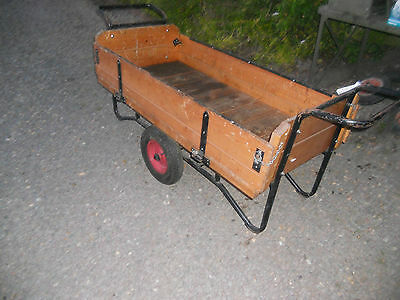 2 wheel trolley garden barrow truck  with sides warehouse cart