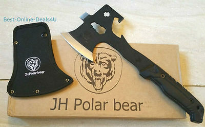 Multifunction Tomahawk Camping Trip Survival Field-Fire-Hand AXE Wrench Rasp-P03