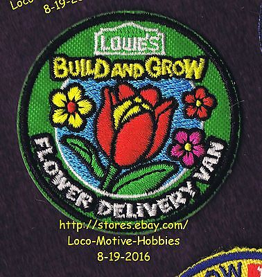 LMH PATCH Badge 2014 FLOWER DELIVERY VAN Flowers LOWES Build Grow Kids Clinic