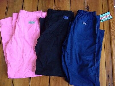 Lot 3 Cherokee Urbane Lydia's Womens Scrubs Bottoms Pants Cotton Blend XS