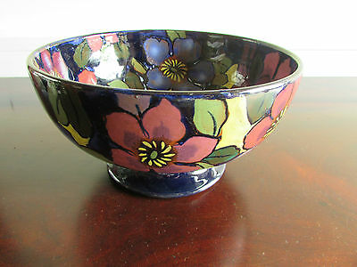 Royal Stanley Hand Painted Pottery Bowl Jacobean Pattern c.1920-30