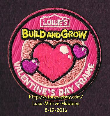 LMH PATCH Badge 2012 VALENTINE'S DAY FRAME Heart LOWES Build Grow Kids Clinic