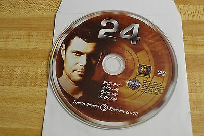 24 Fourth Season 4 Disc 3 Replacement DVD Disc Only 43-160