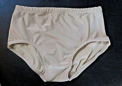 Large Child Nude Color Briefs Fully Lined Dance Costume Dancewear