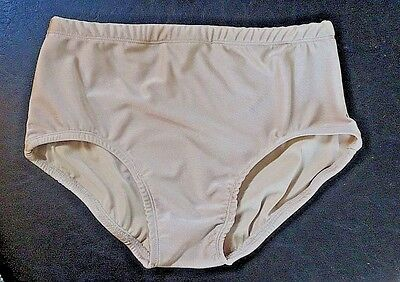 Small Adult  Nude Color Briefs Fully Lined Dance Costume Dancewear