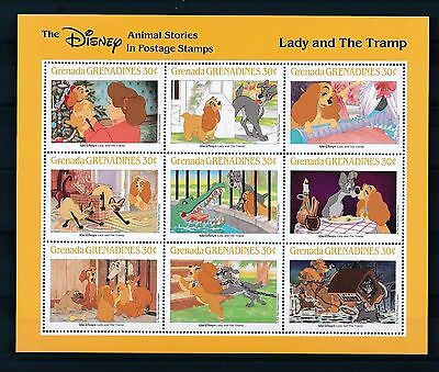 Grenada 1988 Disney Lady and The Tramp MS MNH